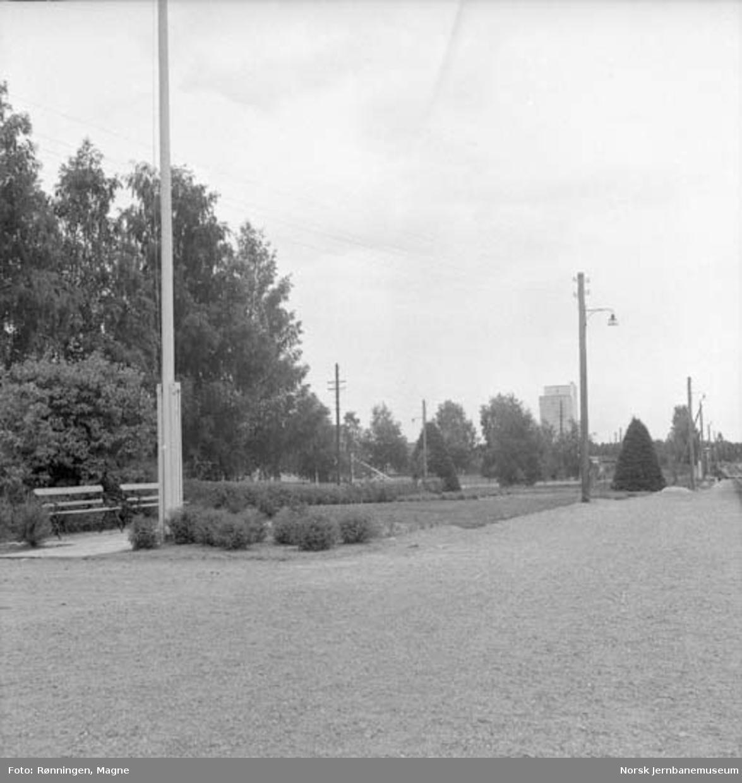 Hageanlegget på Braskereidfoss stasjon