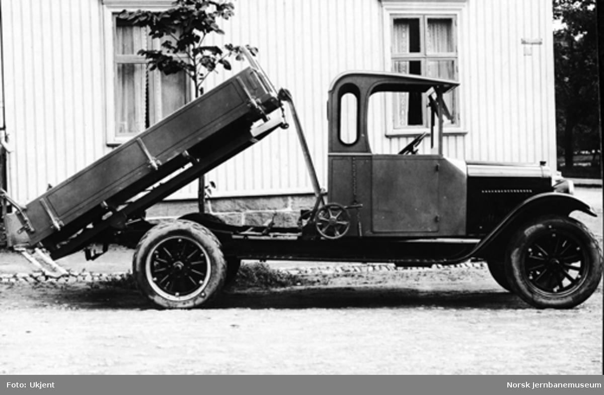 Lastebil med tipp til ukjent kunde