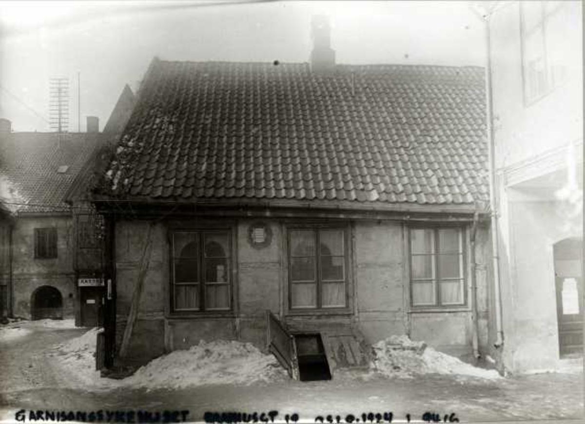 Rådhusgata 19, Oslo. Garnisonssykehuset. Gårdsrommet.