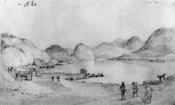 """Søndeled Fra skissealbum av John W. Edy, """"Drawings Norway 1"""