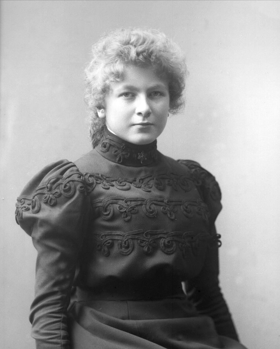 Portrett, frøken Schibsted.