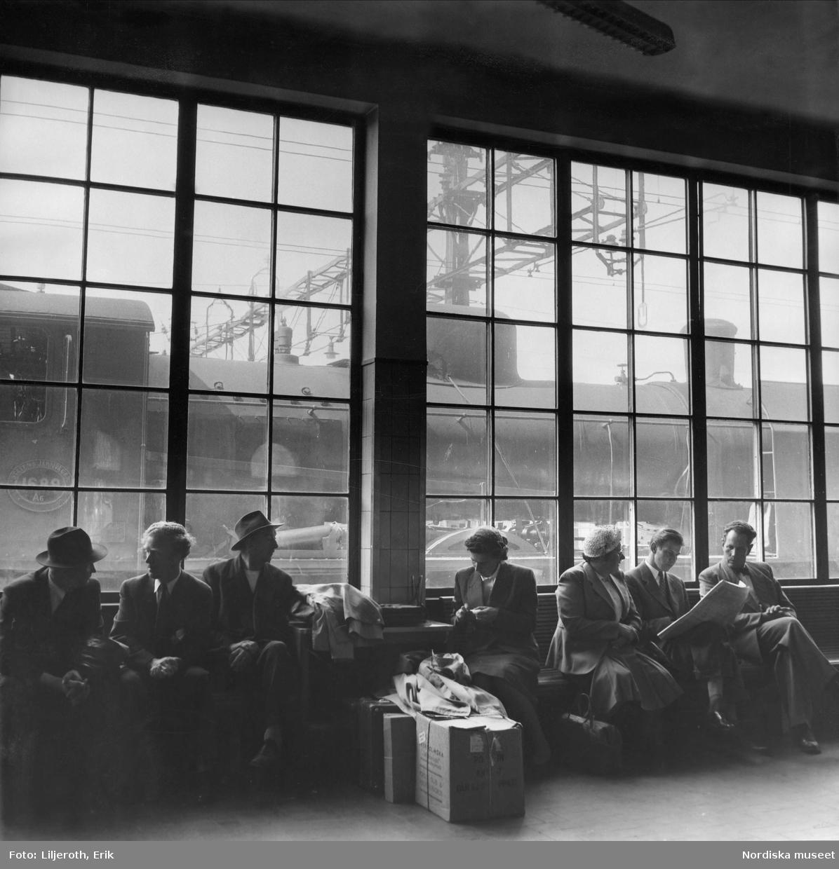 Väntsalsinteriören järnvägsstationen, Nässjö