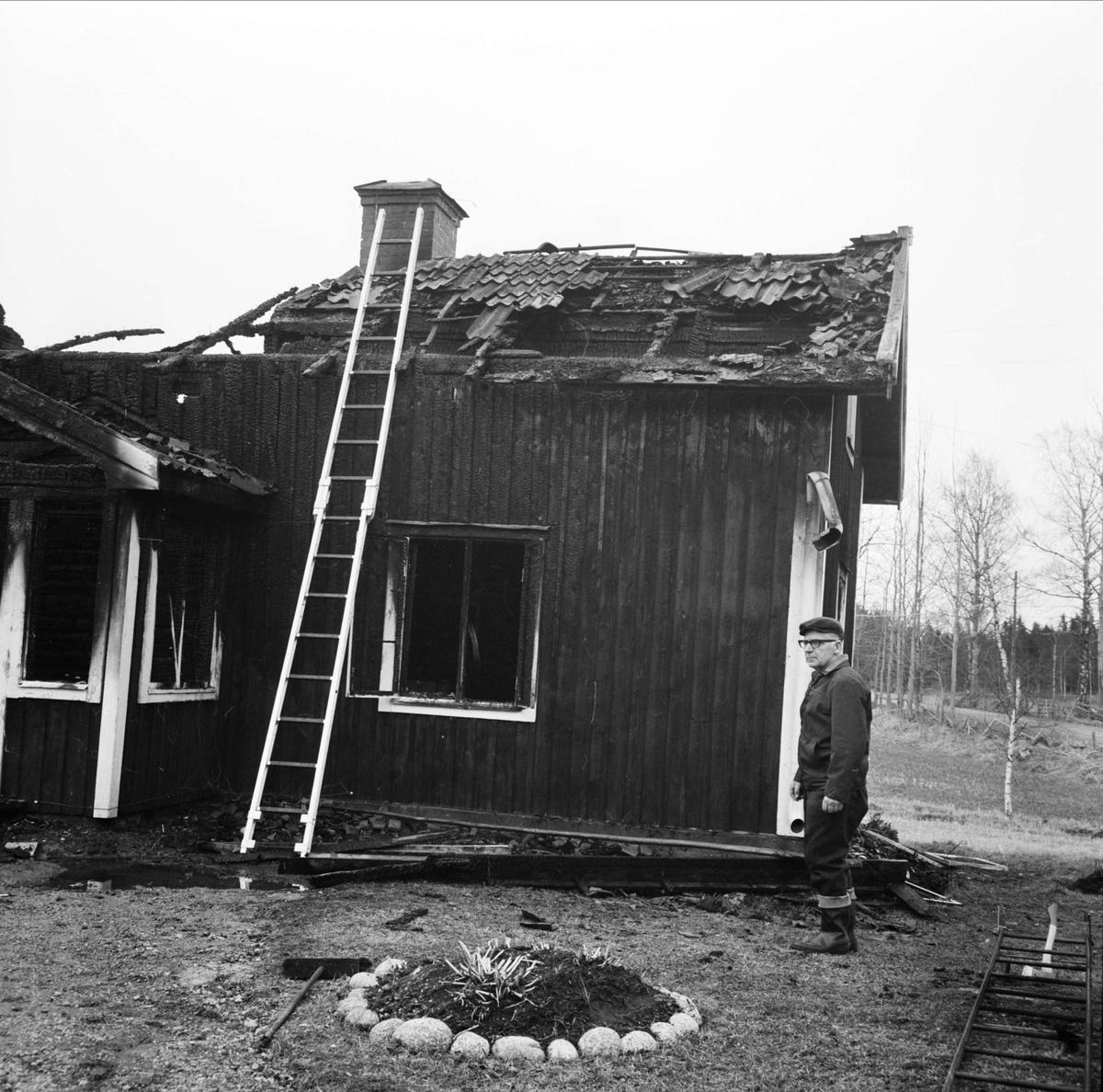 Brand i Hållnäs, Uppland april 1973