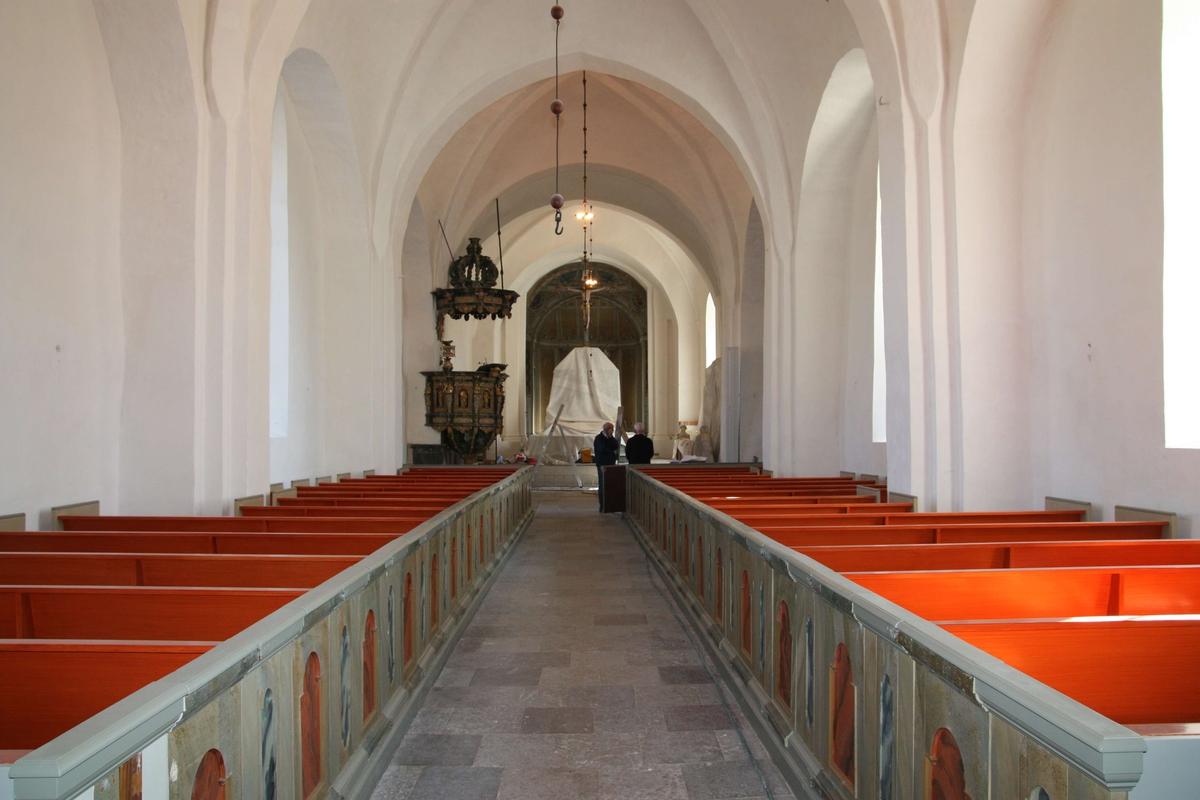 Inteirör i Veckholms kyrka, Veckholms socken, Uppland 2010