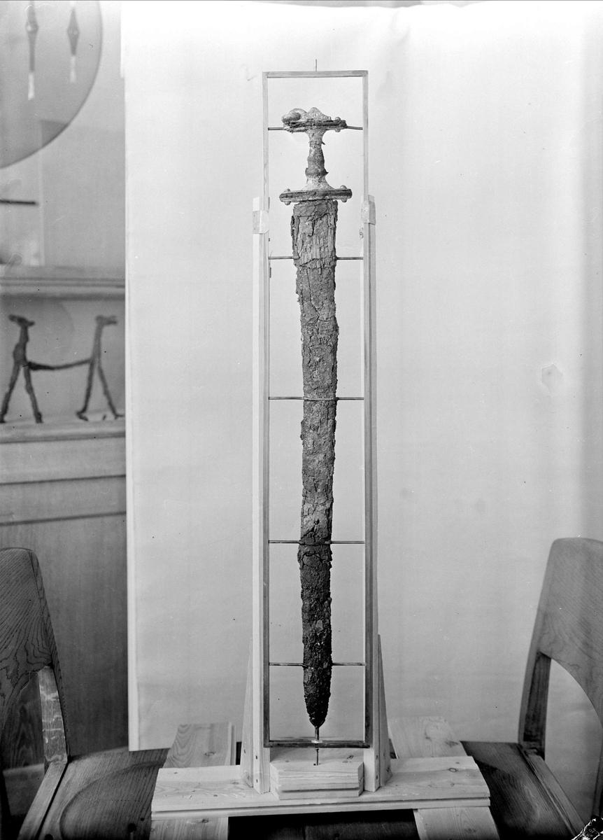 Svärd på Museet för nordiska fornsaker, Gustavianum, Uppsala