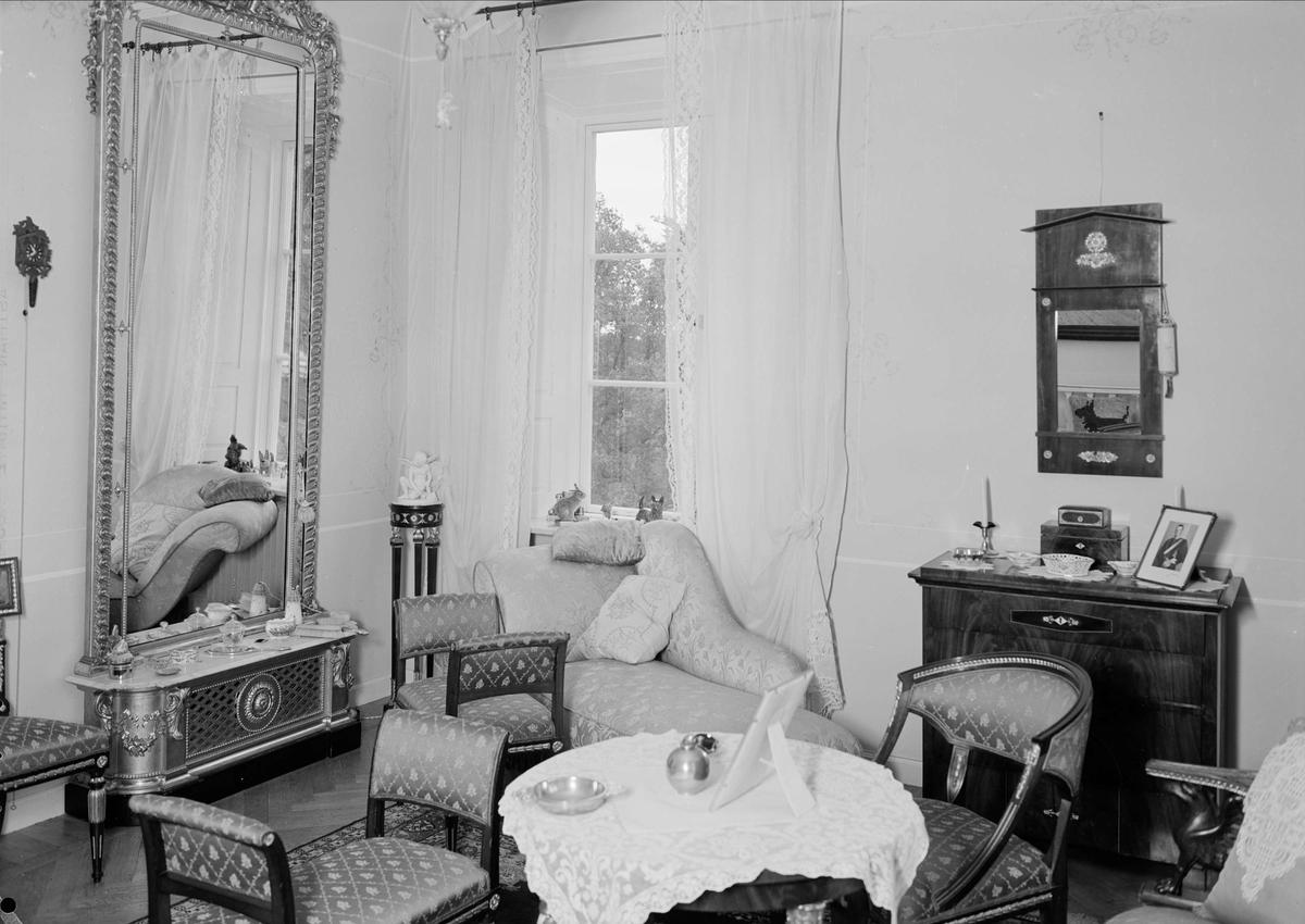 Nyborgs gård, Håtuna socken, Uppland, interiör 1939