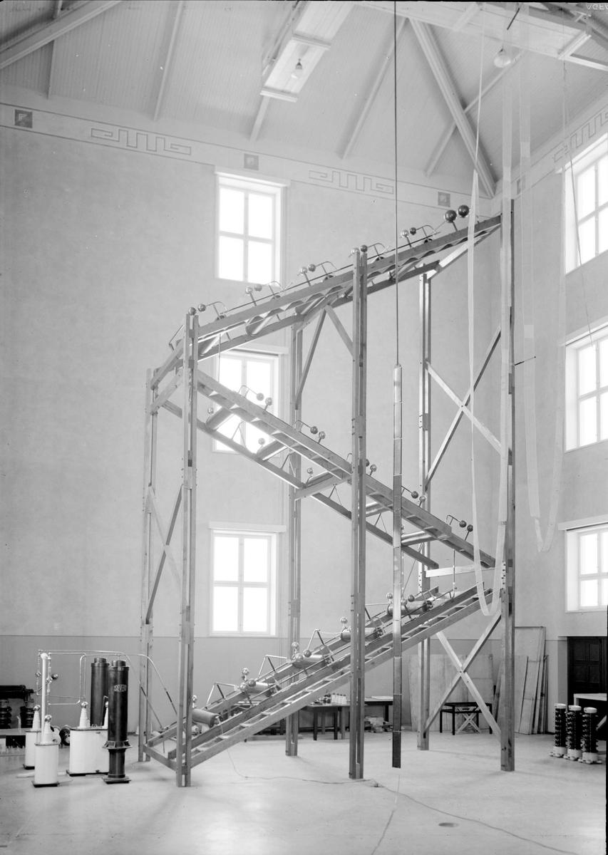 Institutet för högspänningsforskning, Husbyborg, Uppsala, interiör 1937
