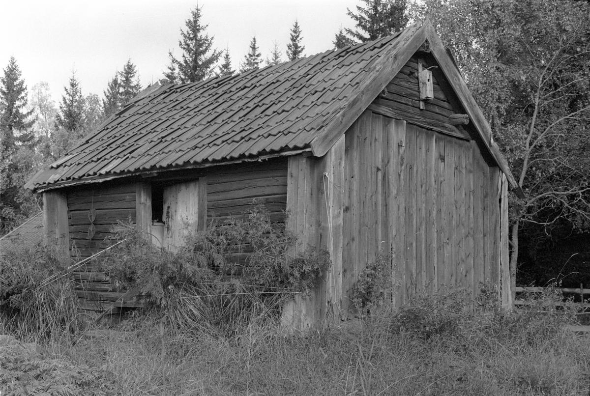 Bod med jordkällare, Strömhagen, Lena socken, Uppland 1978