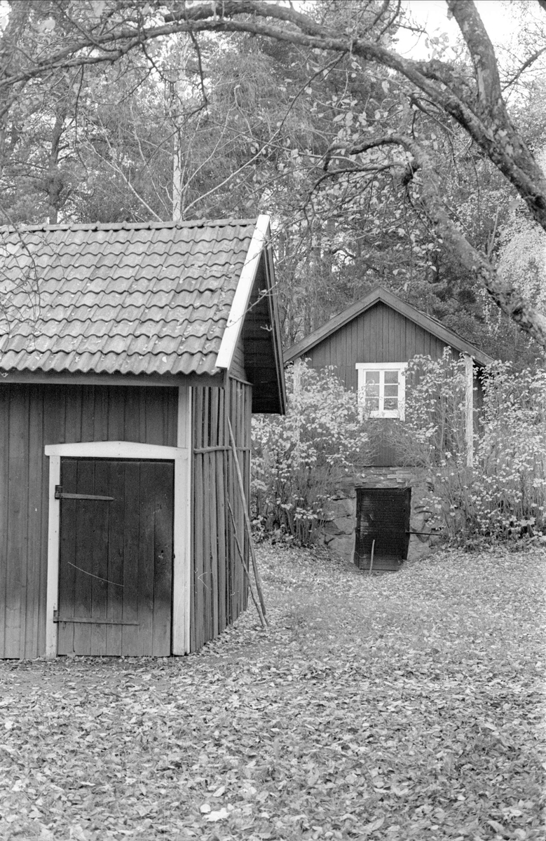 Brygghus/matbod/vedbod och källare med överbyggnad, Stengärde, Fullerö, Gamla Uppsala socken, Uppland 1978
