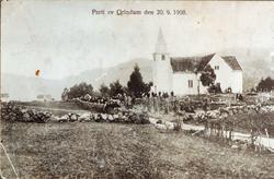 "Parti av ""Grindum"", Grindheim kirke."