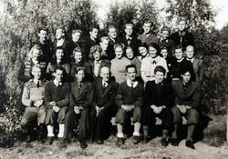 Ågedal realskole 1943/1944. Bjelland senere Audnedal.