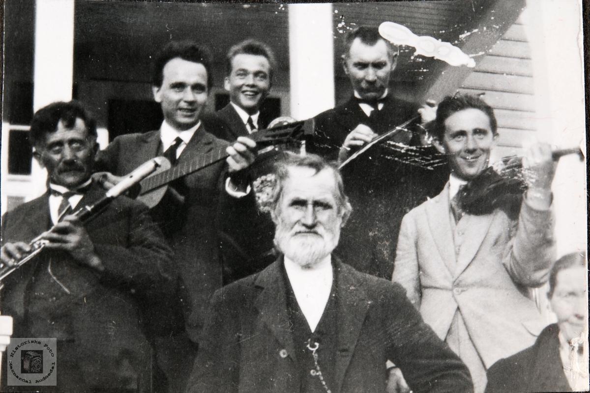 Glade musikanter Ågedalstrand, Bjelland senere Audnedal.