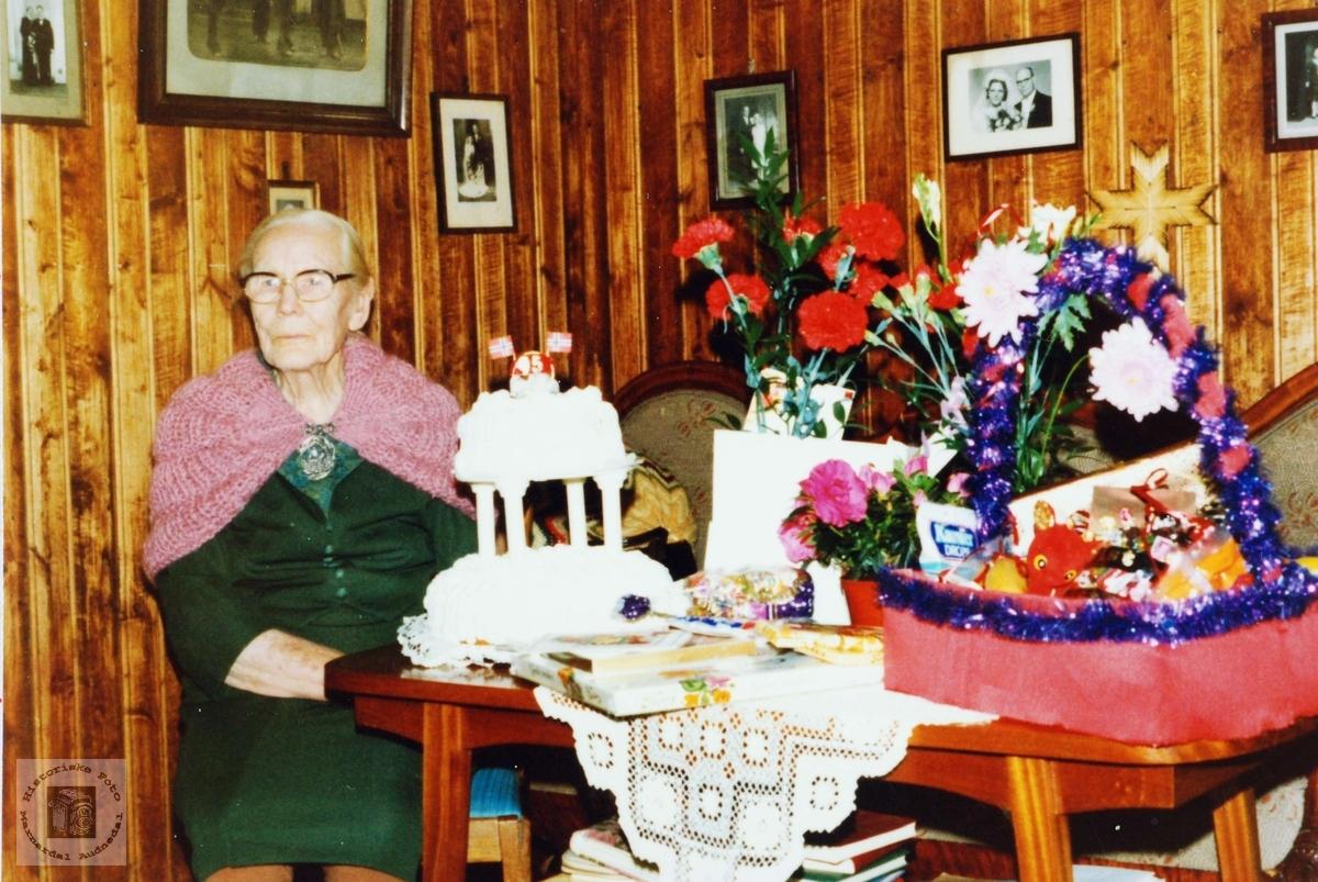90 årsdagen til Kari Leland. Åseral Grindheim.
