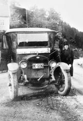 Sjåføren er klar for tur med rutebilen Byremo-Kristiansand.