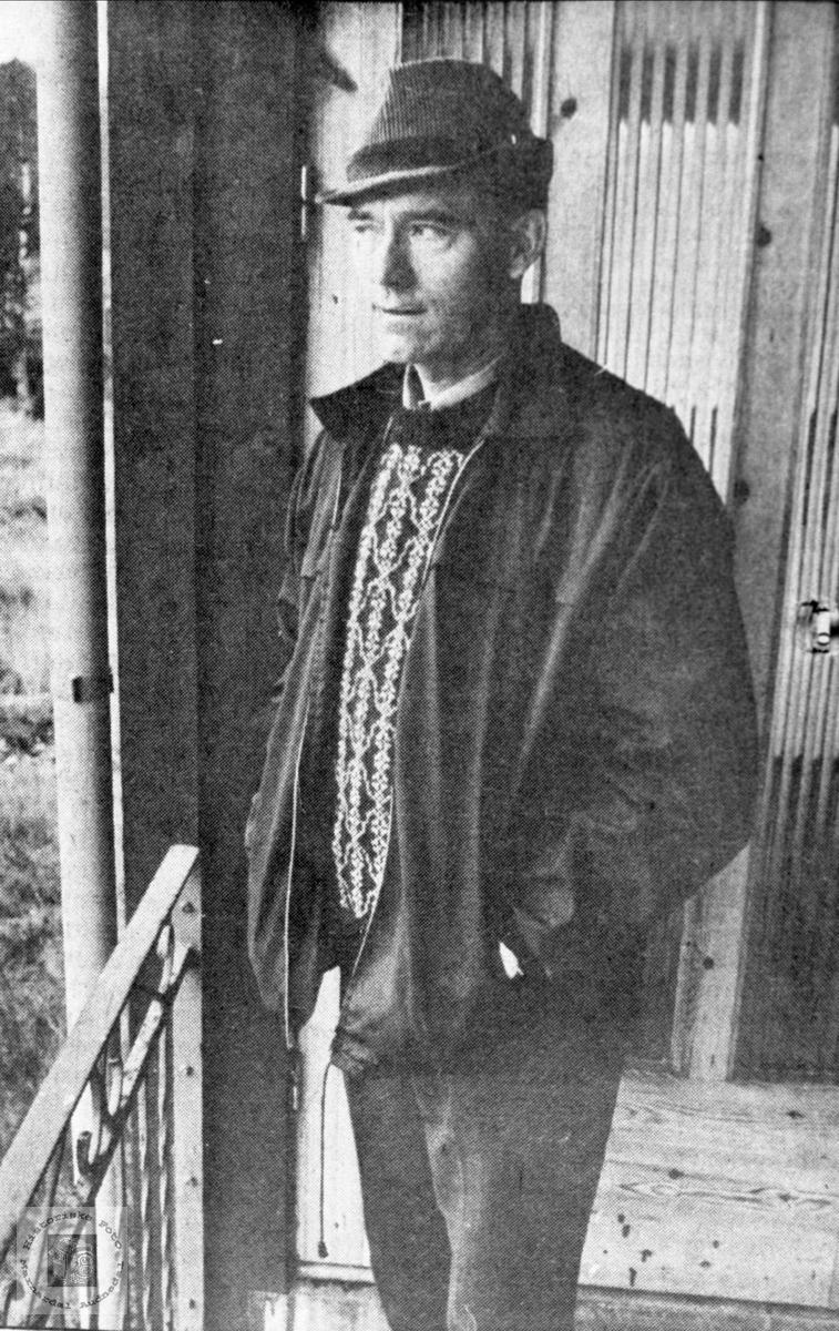 Klubbformann Arvid Høye ved Myran skisenter, Bjelland..