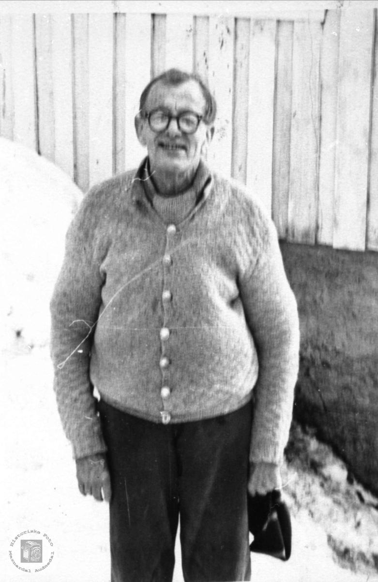 Portrett av Therkel Sandvig, Tjønnåsen, Laudal.