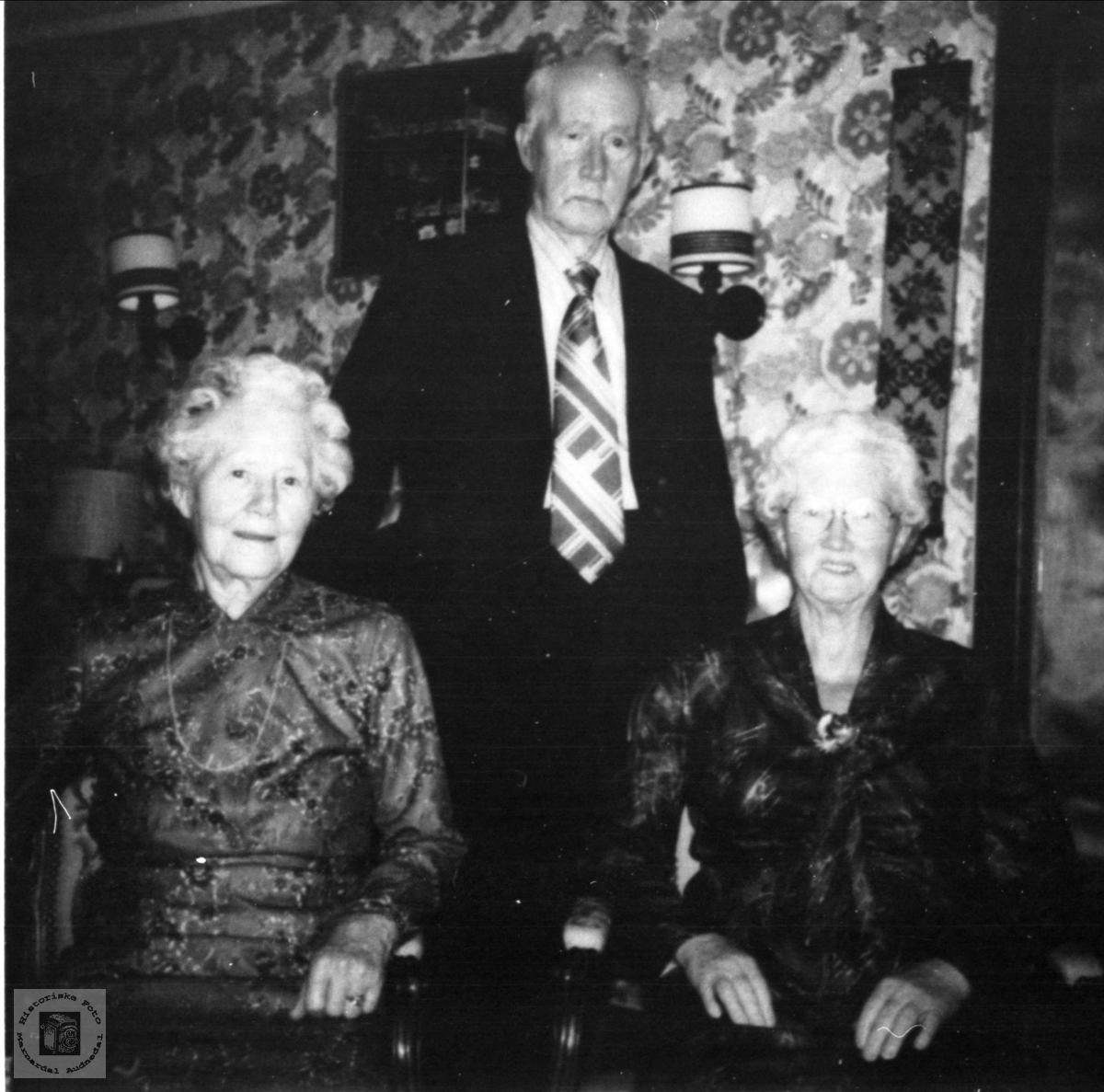 Søsknene Tora, Askild og Birgit Mønsås, Øyslebø.