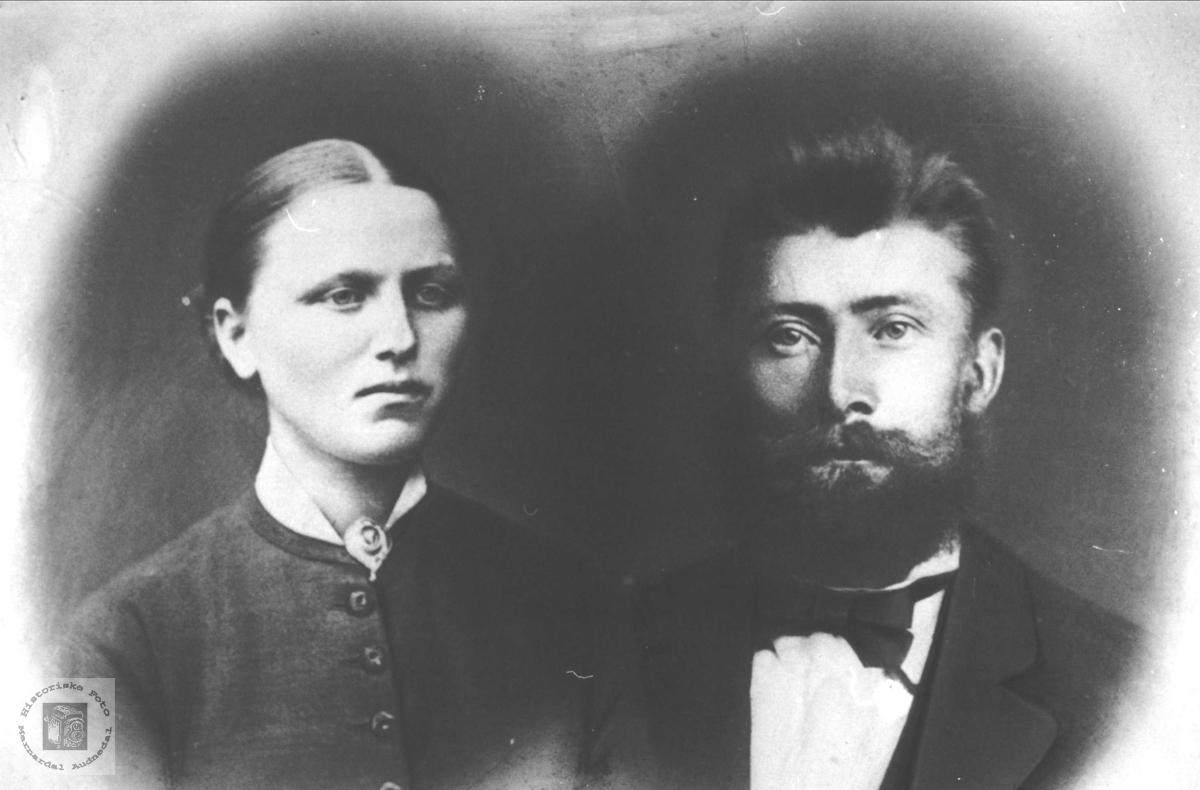 Ekteparet Anna og Torkel Heddeland, Øyslebø.
