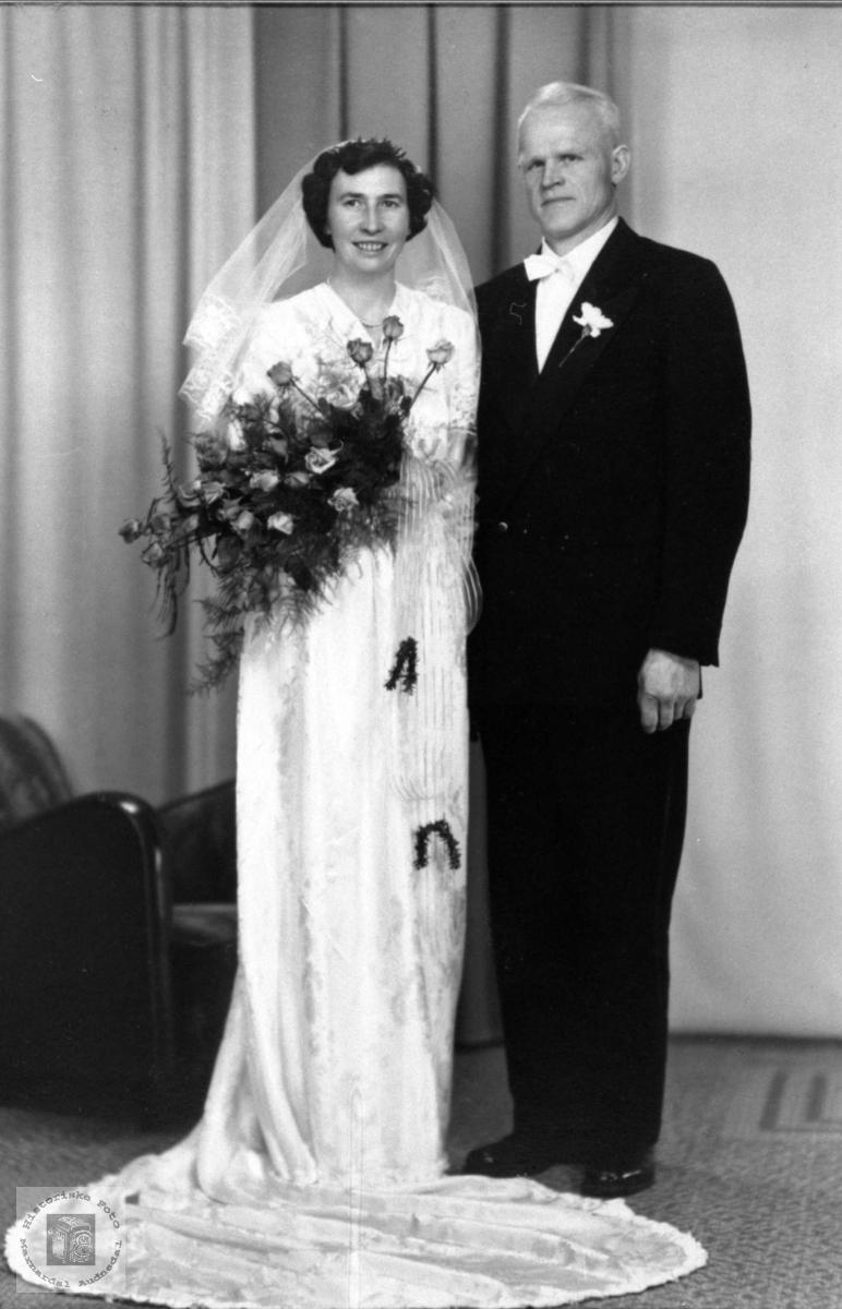 Brudeparet Hanna Marie og Beint Surteland, Øyslebø.