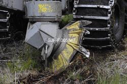 Ett av de to markberedningsaggregatene på en rammestyrt trak
