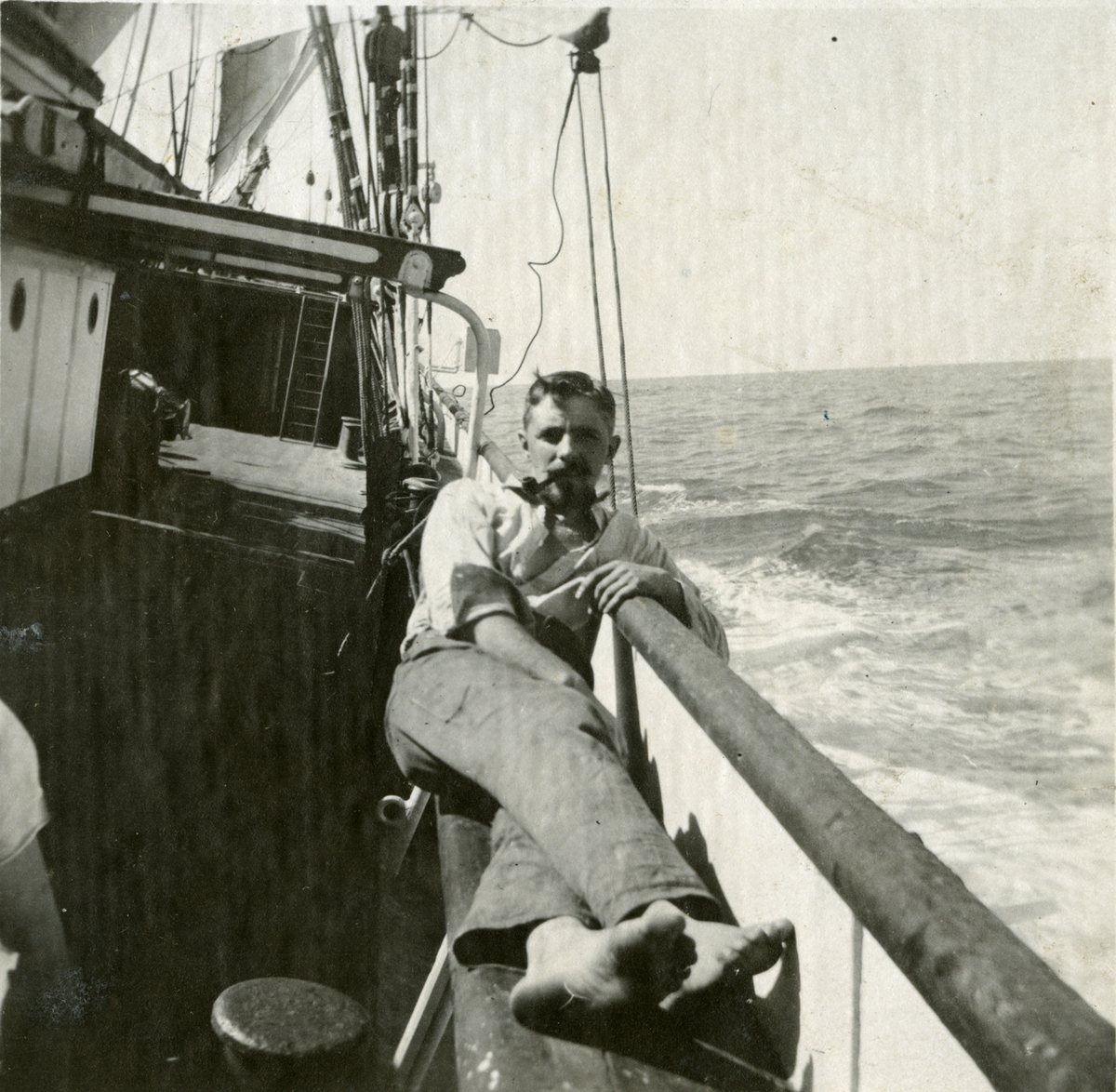 Mannskap ombord i Fullrigger 'Manx King'(b. 1884, Richardson, Duck & Co., Stockton).