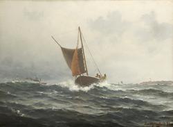 Fiskere ved Kvitsøy [Oljemaleri]