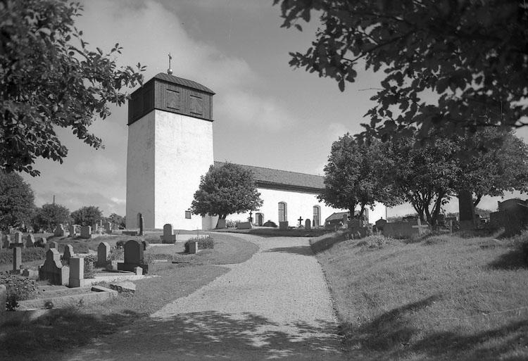 """Enligt AB Flygtrafik Bengtsfors: """"Morlanda kyrka Bohuslän""""."""