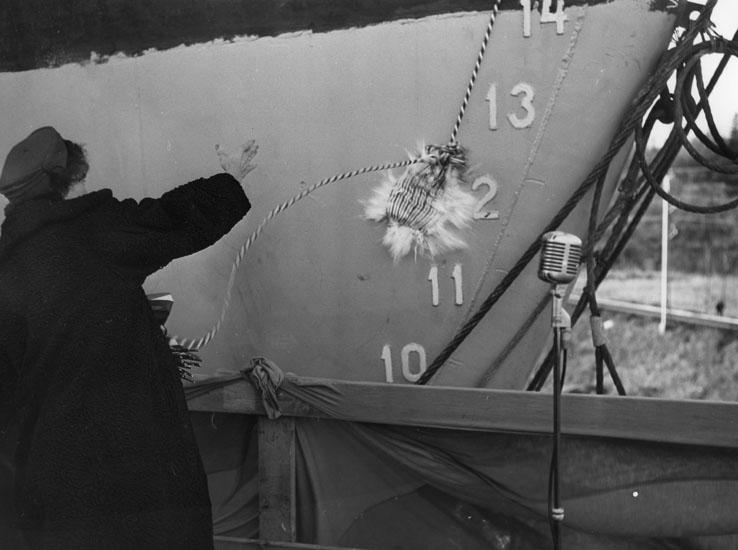 Dop och sjösättning av fartyg 168 M/S Golden Master.