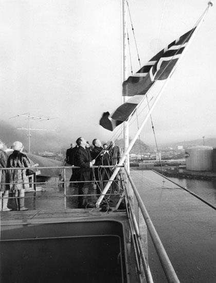 Dop av fartyg 217 OBO Björghav. Sjösättes vid Sörvik utan publik och döptes senare vid Kasen.