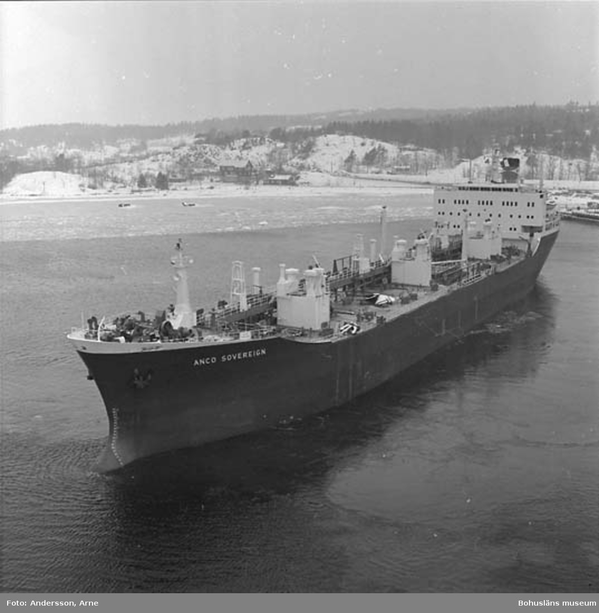 M/T Anco Soveriegn DWT. 23.840 Rederi Athel Line Ltd., London England Kölsträckning 71-05-27 Nr. 241 Leverans 72-02-14 Tankfartyg