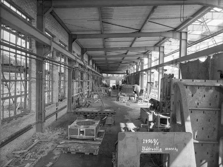 Maskinverkstad norra skeppet under uppbyggnad.