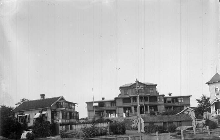 """Enligt text som medföljde bilden: """"Turisthotellet och Pallen 1912."""""""