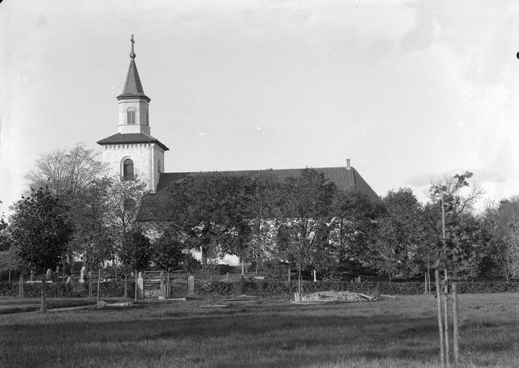 """Enligt fotografens noteringar: """"Krokstad kyrka."""""""