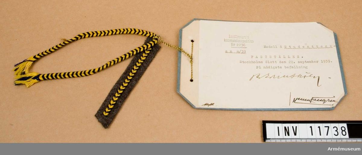 Grupp C I.  Fastställt 1939 09 23.