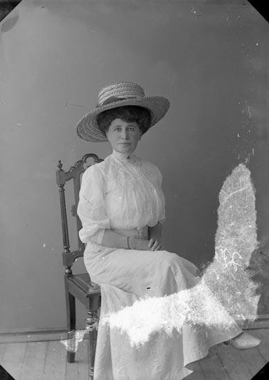 """Enligt fotografens journal nr 2 1909-1915: """"Wallfradt, Majorskan Här""""."""