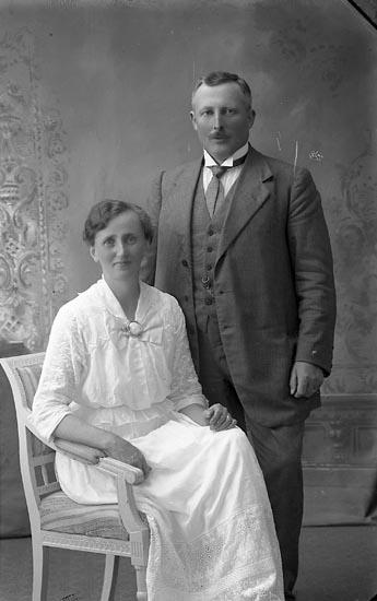 """Enligt fotografens journal Lyckorna 1909-1918: """"Nelander, Inspektör Anfasteröd Lyckorna""""."""