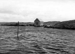 Utmärkning av grund med järnstång vid Feøy