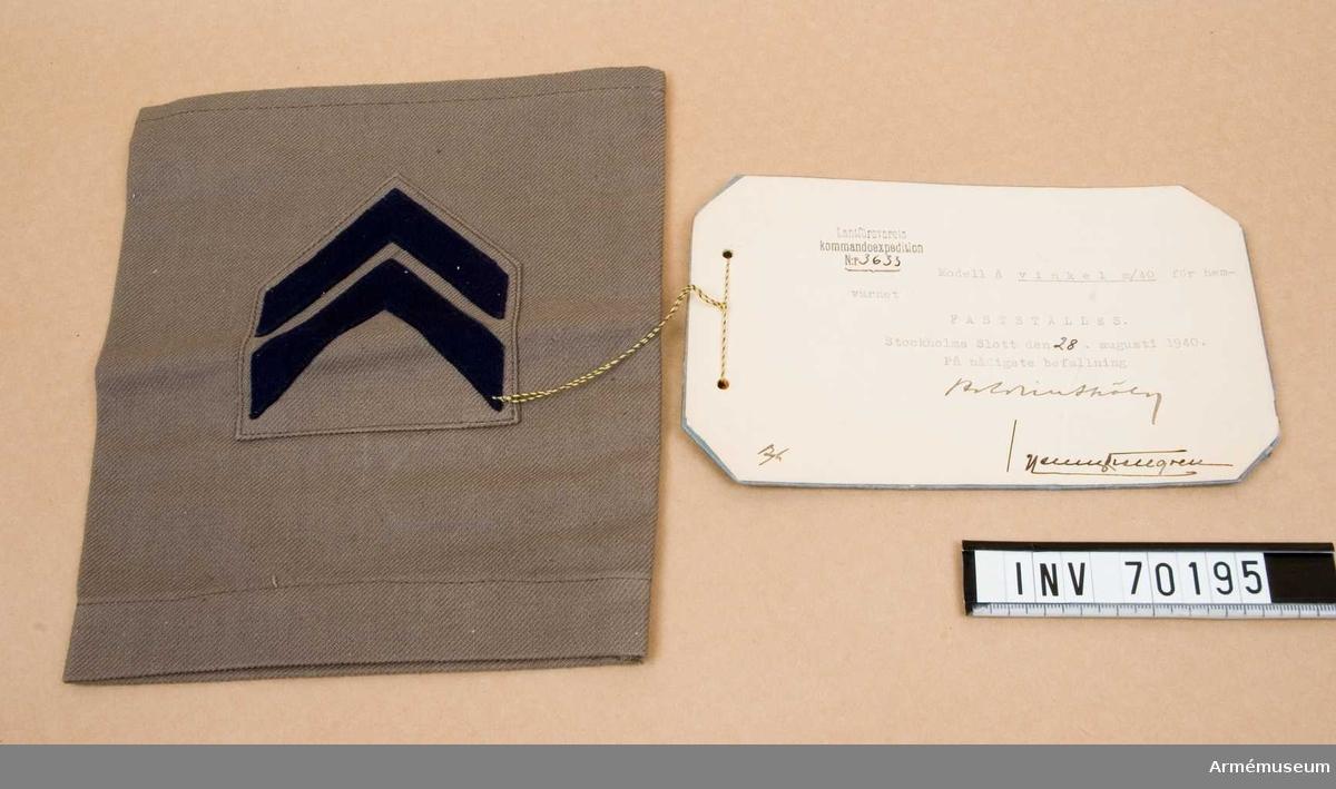 Grupp C I.  Modell fastställd 28.8.1940.