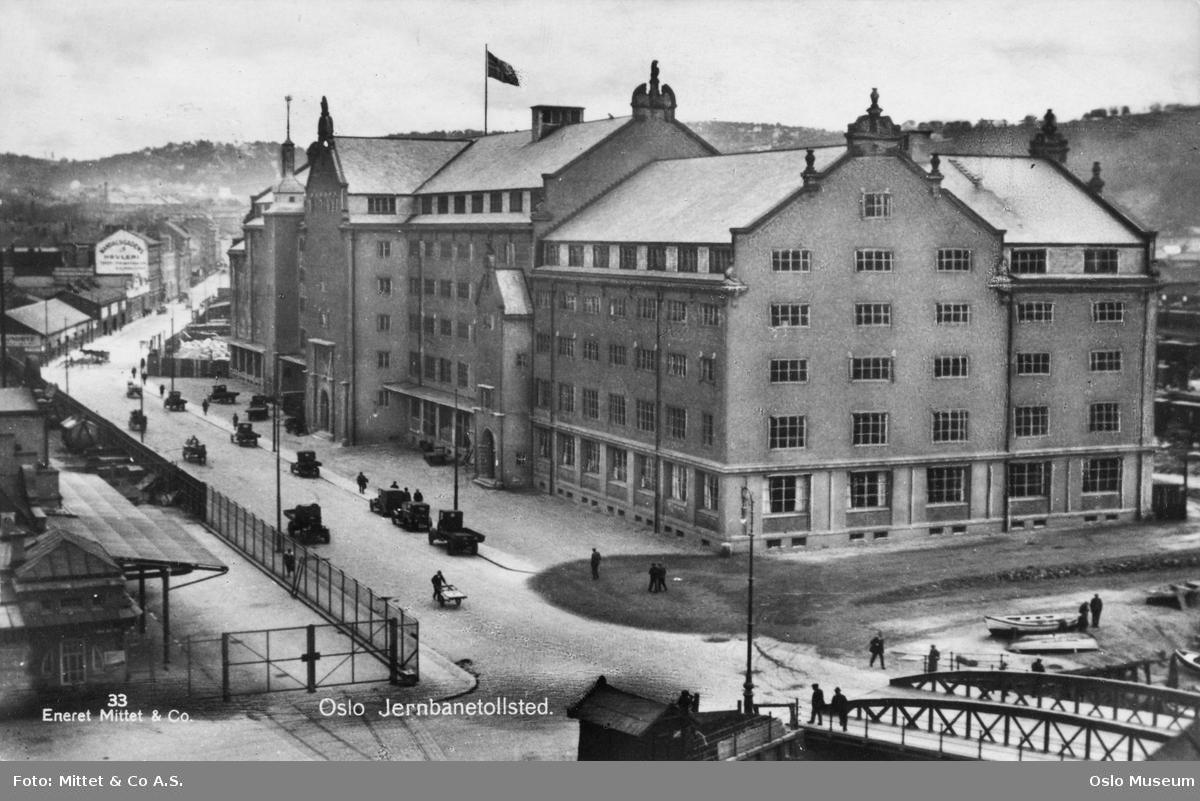 gateløp, Oslo tollsted, bro, biler, mennesker, Oslo slaktehus, bygårder