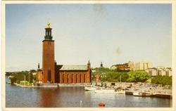Notering på kortet: Stockholm. Stadshuset.