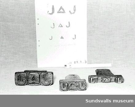 Johannedals Trävaruaktiebolags skeppningsmärke för sågade varor klass VI.