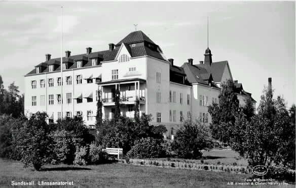 Länssanatoriet i Sundsvall.
