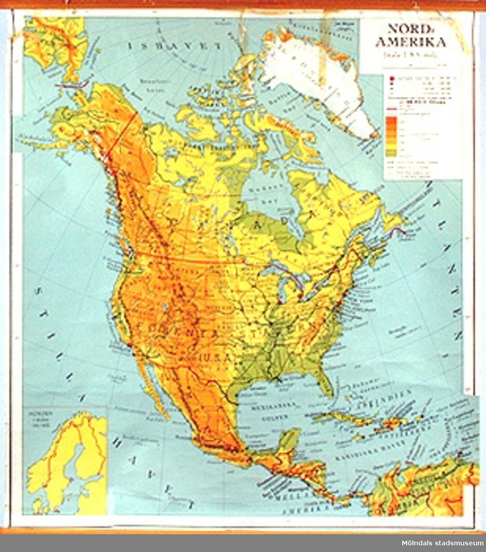 Skolkarta märkt nr 23.Nordamerika.