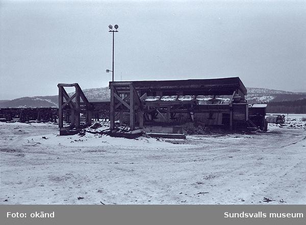 Svedjeholmens sågverk, mätstation,timmerintag,värmepanna m.m.