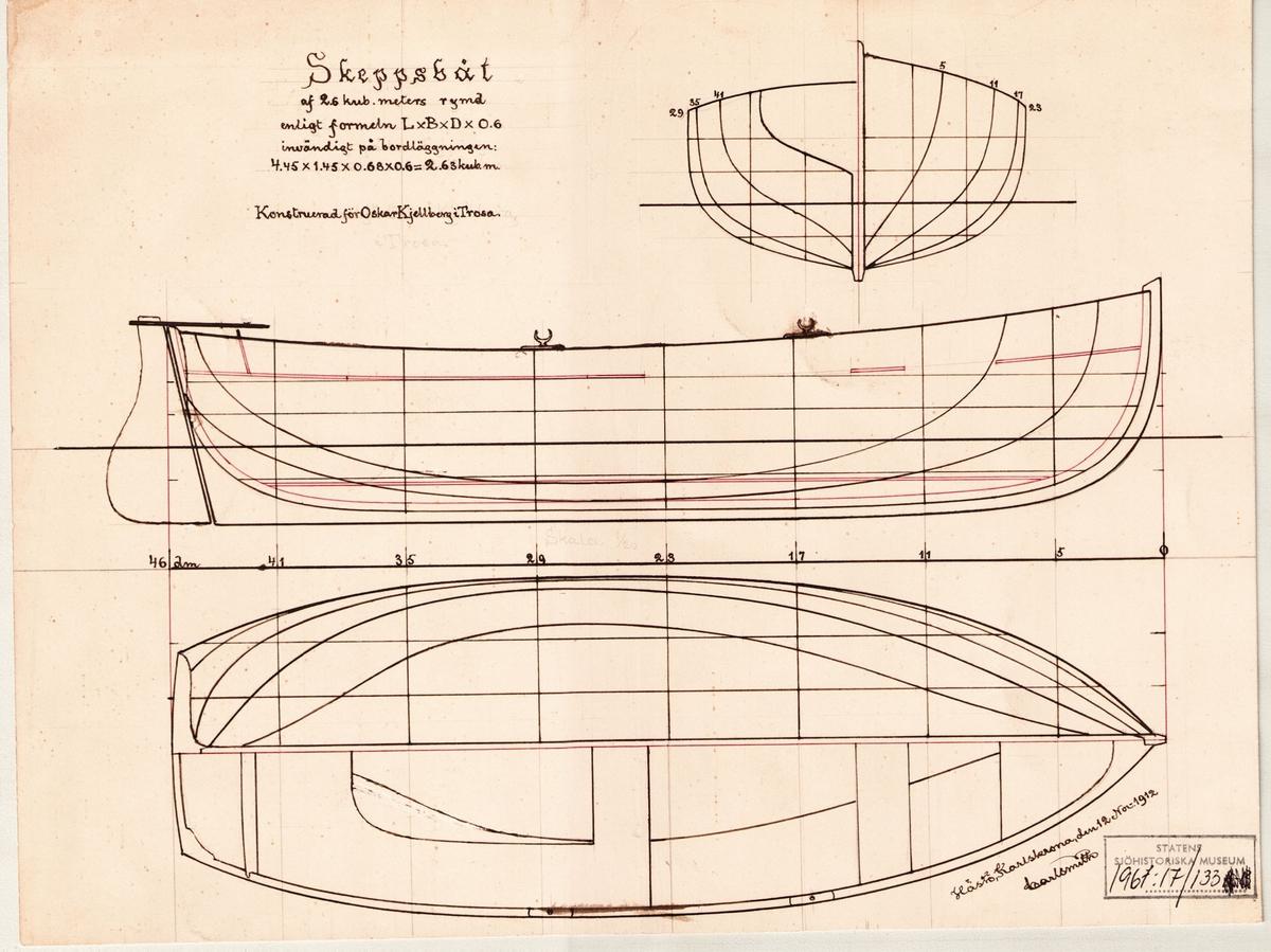 spantruta, profil- och linjeritning