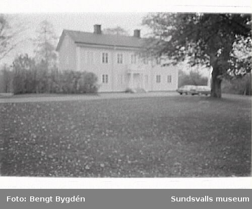 Prästgård och kyrkogård i Selånger. Kulturmiljöinventering.