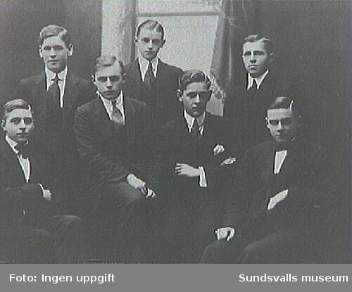 Medlemmar i kamratföreningen, där Erik Modin var medlem.