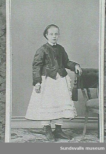 Visitkortsporträtt av Malla Gran (gift Thuresson).