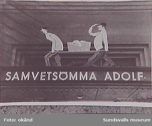 """""""Samvetsömma Adolf"""", program på Svea-biografen."""