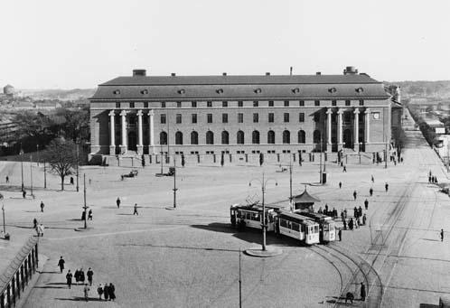 Centralposthuset i Göteborg (Göteborg 1), Drottningtorget6-7.  Foto 1926. Posthuset invigdes den 30 maj 1925.